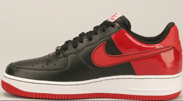 Nike Air Force 1 - Black/Red Patent Leather