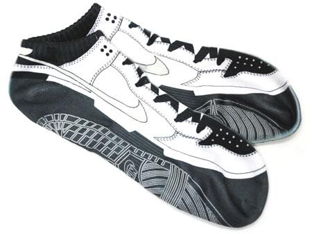 Nike Dunk Low Socks - Black/White