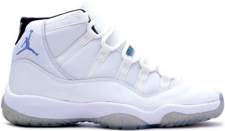 Air Jordan 11 (XI) Retro White/Columbia Blue-Black
