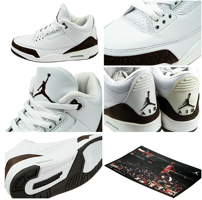 Air Jordan 3 III White Mocha 2001 Retro