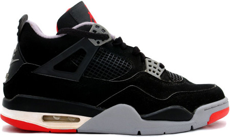 sports shoes 586c9 9be97 Air Jordan 4 (IV) 1999 Retro Black Cement Black / Cement Grey ...
