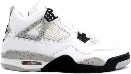 Air Jordan 4 (IV) Retro 1999 White Cement White/Black