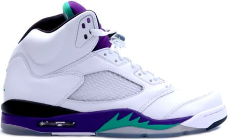 Air Jordan 5 (V) Retro Grapes White / Grape Ice - New Emerald