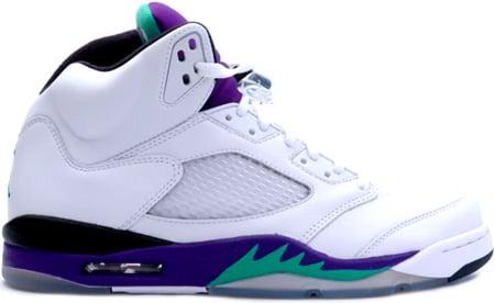 a696652e29c5 Air Jordan 5 (V) 2006 Retro Grapes White   Grape Ice - New Emerald ...