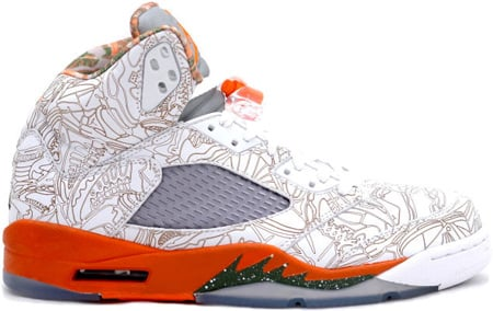 Air Jordan 5 (V) Retro Laser White/Army Olive-Solar Orange-Bison