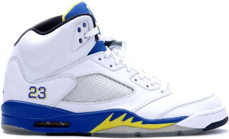 Air Jordan 5 (V) Retro Laney High School White/Varsity Royal-Varsity Maize