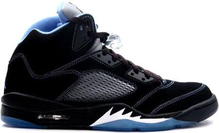 detailed look aa020 e0172 Air Jordan 5 (V) Retro Black / University Blue - White ...