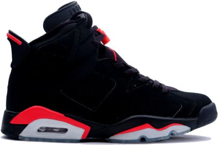 air jordan vi 6 retro black deep infrared
