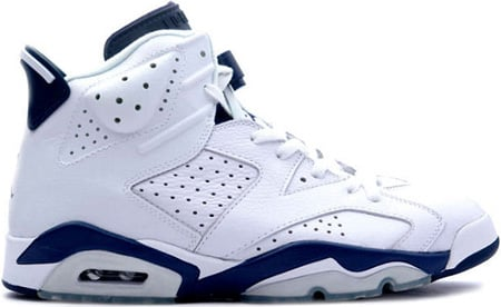 Air Jordan 6 (VI) Retro White/Midnight Navy