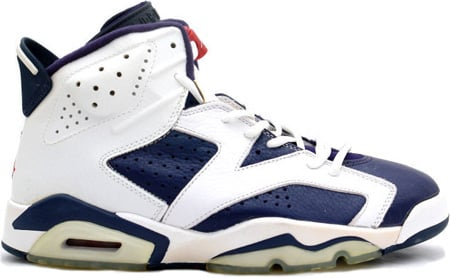 Air Jordan 6 (VI) Retro Olympic Midnight Navy/Varsity Red-White