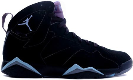 air jordan 7 (vii) retro – black / chambray – light graphite