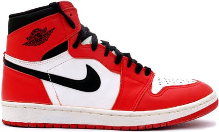 Air Jordan 1 (I) 1994 Retro White/Black-Red