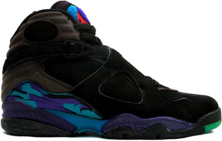 Air Jordan Original 8 (VIII) Aquas All Stars Black/Bright Concord-Aqua Tone