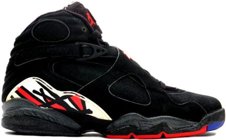 Air Jordan Original 8 (VIII) Playoffs Black-Black-True Red
