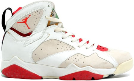 Air Jordan Original 7 (VII) Hare White/Light Silver-True Red