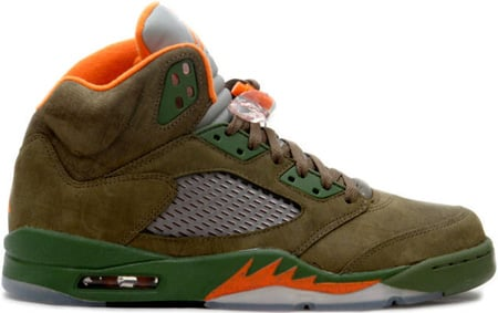 air jordan 5 undefeated olive
