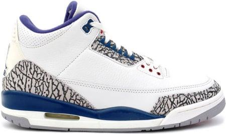 Air Jordan 3 (III) Retro White/True Blue