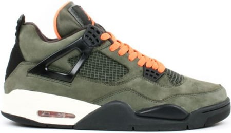 Air Jordan 4 (IV) Retro Undftd/Undefeated Olive-Oiled Suede-Flight Satin
