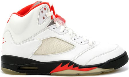 64bc27fe60cb Air Jordan 5 (V) 2000 Retro White   Black-Fire Red