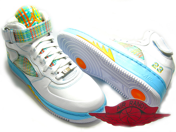 Air Jordan Force Fusion 5 (V) White / Orange Peel - Blue Chill