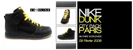 Nike Dunk Be True City Series - Paris