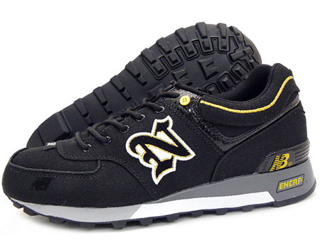 New Balance A10 Canvas - Black, Red, White