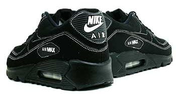 air max 90 black with white stitching