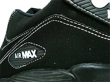nike air max 90 black with white stitching