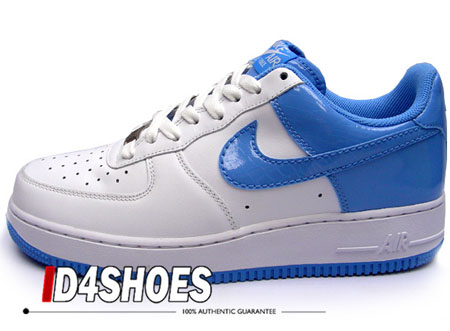 Nike Air Force 1 - White/University Blue Patent Leather