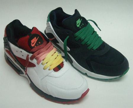 Nike Air BW x Huarache - White/Red and Black/Green