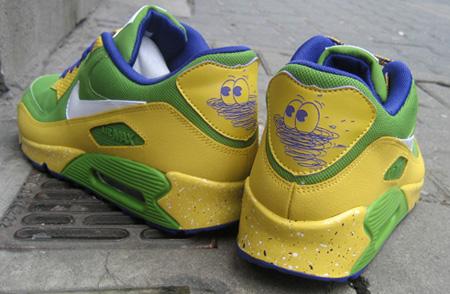 nike air max 90 yellow green