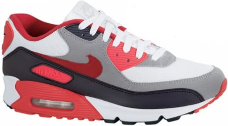 Nike Air Max 90 EX White/Sport Red-Anthracite