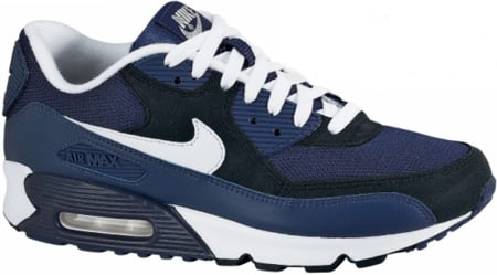 navy and white air max