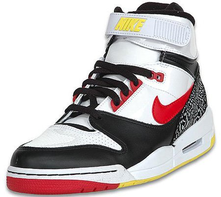 Nike Air Revolution High White/Black/Red/Yellow
