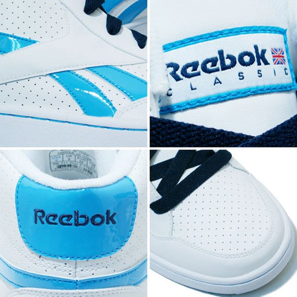Reebok CL BB Zone Mid White / Royal Blue