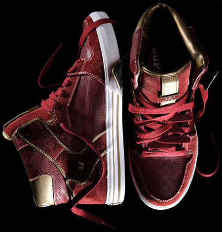 Supra Vaider - Red/Gold