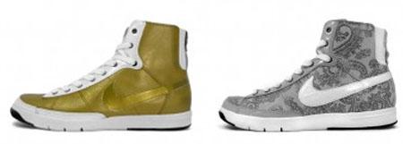 Nike WMNS Blazer Mid Plus - Metallic Gold and Granite
