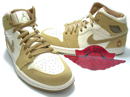 Air Jordan Retro I (1) Military Pearl White / Hay - Walnut