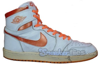 Air Jordan Original / OG 1 (I) White / Metallic Orange