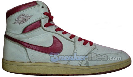 Air Jordan Original / OG 1 (I) White / Metallic Dark Red