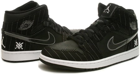 Air Jordan 1 (I) Retro Barons Away Opening Day Black / White - Silver - Dark Charcoal