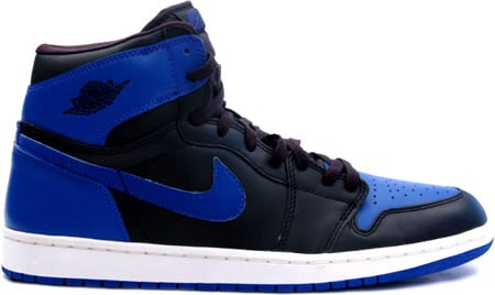Air Jordan 1 (I) Retro Black / Varsity Royal Blue - White