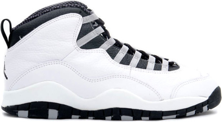 Air Jordan Original / OG 10 (X) White / Black - Light Steel Grey