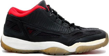 Air Jordan Original 11 (XI) Black - Dark Grey - True Red I.E. Low