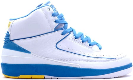 Air Jordan 2 (II) Melo Retro White / Columbia Blue – Varsity Maize