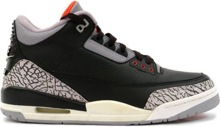 ee424287bcb0e2 Air Jordan 3 (III) 2001 Retro Black   Cement Grey