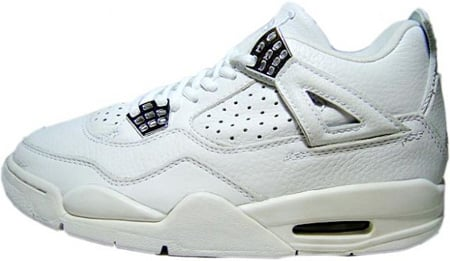 Air Jordan 4 (IV) Retro White / White - Chrome