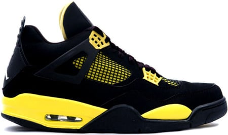Air Jordan 4 (IV) Retro Thunder Black / Tour Yellow