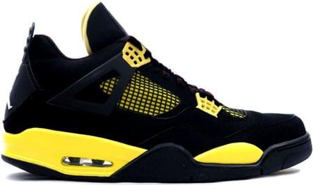 11c8e4dc78a Air Jordan 4 (IV) Thunder 2006 Retro Black   Tour Yellow