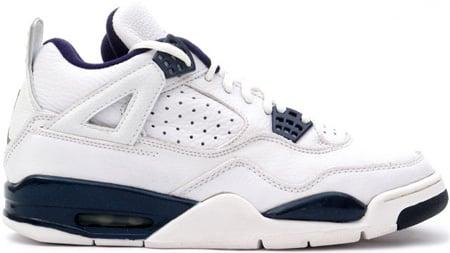 Air Jordan 4 (IV) Retro White / Columbia Blue - Midnight Navy